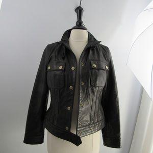 Banana Republic black label leather jacket